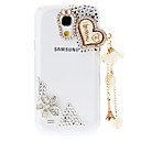 Rhinestone Transparent Pattern Hard Back Case with Pearl Tower for Samsung Galaxy S4 Mini I9190