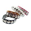 Eruner®Punk Style Round Rivet Leather Bracelet(Assorted Color)