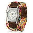 Женская вязаная Широкий Ткань группы Кварцевые аналоговые наручные часы (разных цветов)
