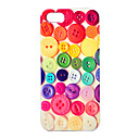 Joyland Colorful Button Pattern Hard Case for iPhone 4/4S