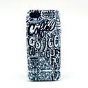 Кофе письмо головоломки Pattern Мягкая обложка чехол для iPhone 5 / 5S