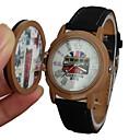 Мужская Pattern автобус Stamp Стиль Обложка Кожаный ремешок кварцевые наручные часы (разных цветов)