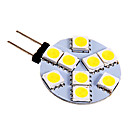 3W G4 LED Bi-pin Lights 9 SMD 5050 130-180 lm Cool White DC 12 V