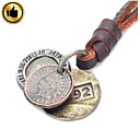HGYBEST Fashion Cool Punk Style Pendant Necklace (3-Color Ancient Coin Theme)