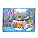 Monster Color Tail Rubber Band Crafting Kit Rainbow Color Loom Style with 600pcs Silicone Bands