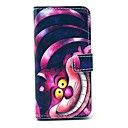 Cool Retro Cat PU Leather Case with Card Holder for Samsung Galaxy S4 Mini I9190