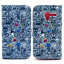 Cool Graffiti Wallet Style Foldable Flip Stand Leather Case for Motorola X XT1058 XT1055 XT1053