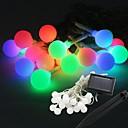 20-LED Solar Power Ball Shape Fairy String Light Lamp Bulb 9M For Decor