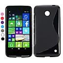 S Shape Simple Soft Design Gel TPU Case for Nokia Lumia 630(Assorted Colors)
