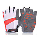 KORAMAN Unisex Red Protection Pad Anti-skid Black Half Finger Gloves