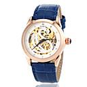 Женская Авто-механический Hollow Лебединое Pattern Кожа наручные часы (разных цветов)