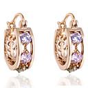 Women's New Arrival 18K Gold Plated Selling Multicolor Earrings Hoop Zircon Earrings ER0250
