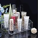 Acrylic Transparent 4x6 Quadrate Cosmetics Storage Stand Makeup Brush Cell Cosmetic Organizer