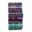 Multi-color Folk Style Pattern PU Leather Full Body Case with Stand for iPhone 5C