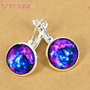 European Blue Galaxy Silver Stud Earring(1 Pair)