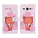 PU Leather Hello Bear Pattern Case for Huawei Ascend Y530
