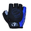 KORAMAN Men's Black&Blue Nylon Bike Bicycle Half Finger Cycling Gloves