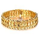 Прохладной атмосфере меднение Широкие Мужчины 18-каратного золота браслет