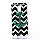 Black and White Playground Anchor Pattern Silicone Soft Case for Samsung S5 I9600