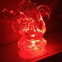 Coway Acrylic Crystal Colorful Swan LED Night Light