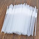 Прозрачный ПП соломка, Набор 100, L0.5cm х W0.5cm х H15cm