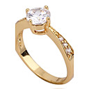 Women's New 18K Gold Plated Fashion Hot Selling Classic Zircon Rings