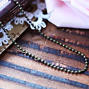 Vintage Bronze Bead Chains DIY Material Necklace(1 Pc)