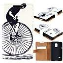 For Samsung Galaxy Case Card Holder / Wallet / with Stand / Flip / Pattern Case Full Body Case Black & White PU Leather Samsung S5 Mini