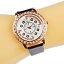 Женская Очаровательная Мода Rhinestone инкрустированные розового золота PU Группа Кварцевые наручные часы (разных цветов)