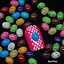 100 шт Mix Цвет Овальный Турция Камень Аксессуары 3D Nail Art Decoration