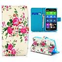 Красивые цветы Pattern Wallet Стиль Стенд Крест Текстура PU кожаный чехол для Nokia Lumia 630