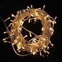 10M 9.6W Рождество флэш-100 LED теплый белый свет Газа свет лампы (ЕС Plug, 220В)