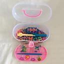 600 Pcs DIY Rainbow Loom  Style Rubber  Band Woven Bracelets(600pcs Band,1 Looms ,2 Hook1Box)