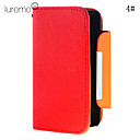 Lureme Fashionable Solid Color PU Leather Case With Stand for Samsung Galaxy S2 I9100