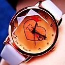 Женская Круглый циферблат PU Группа Кварцевые Мода Watch (разных цветов)