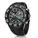 Мужская Черный Круглый циферблат часов силиконовой лентой Япония движение Мода Дайвинг спортивные часы наручные часы (разных цветов)