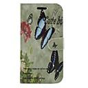 Цветы и бабочки PU кожаный бумажник для всего тела защитный чехол с подставкой для Samsung Galaxy Ace 4 G313H
