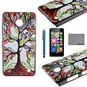COCO весело красочные Дерево Pattern PC Твердый переплет чехол с протектор экрана и стилуса для Nokia Lumia N630