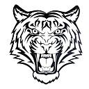 1Pc Yimei татуировки наклейки Большой размер / Водонепроницаемый животных серии Женщины / Мужчины / взрослый / подросток Черный Тигр шаблон 25cm21.5cm