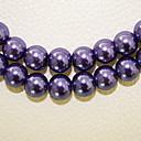 Beadia 3 ул (около 580pcs) Мода 4мм круглый стеклянный жемчуг фиолетовый цвет DIY прокладки Loose бусы