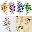 50 шт 3D бабочки Магнит стикеры стены искусства Наклейки с Bubble Memory Stick (12 шт Ordinary38 Штук немагнитных)