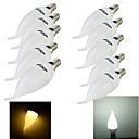 10PCS YouOKLight E14 3W CRI = 70 200LM 8-SMD2835 теплый белый свет Холодный белый свет Светодиодные свечи лампы (220 ~ 240 В)