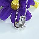 925 стерлингового серебра Алмазный Подвеска Серебро короткой цепи Ожерелье Кольцо и ключицы Корея Любители