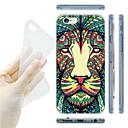 Красочный шаблон Лев ТПУ Мягкая задняя для iPhone 6