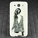 Drill and Girl Back Pattern PC Back Cover Case for Samsung Galaxy Mega I9152