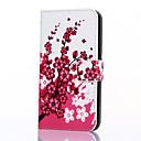 Peach Blossom шаблон PU кожаный бумажник флип с карты памяти и ПОВ чехол для Samsung Galxay S6 границы плюс