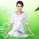 Женские йоги Половина рукава дышащие / легкие материалы Белый Йога / Фитнес S / M / L / XL / XXL