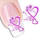 10 шт цветок сердце любовь воды Передача ногтей Наклейки