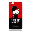 Hello Kitty красный черный ТПУ Мягкая задняя крышка для iPhone 6