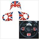 3 шт Красный Синий Юнион Джек стиль флаг шаблон крышки рулевого колеса для серии MINI R